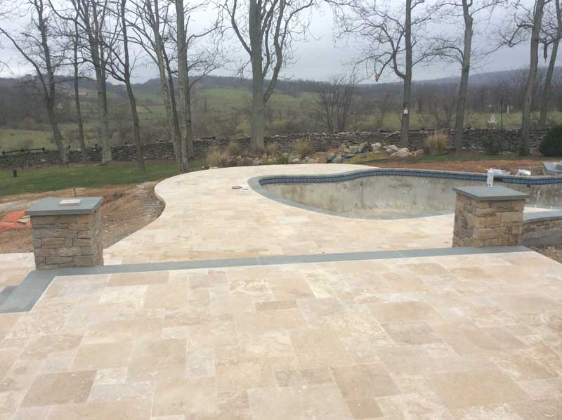 nearly finished stone patio