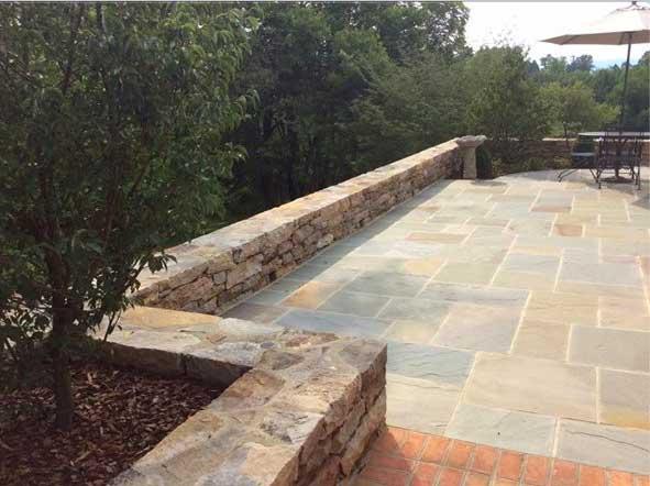 fancy stone patio
