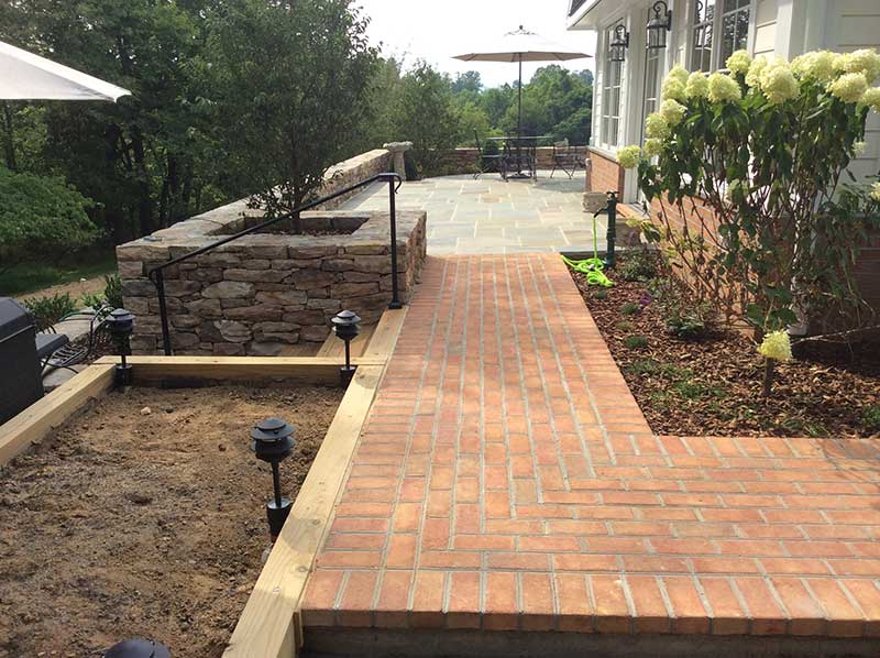 large backyard patio stone