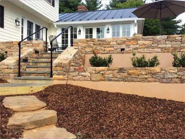 stone walls to yard
