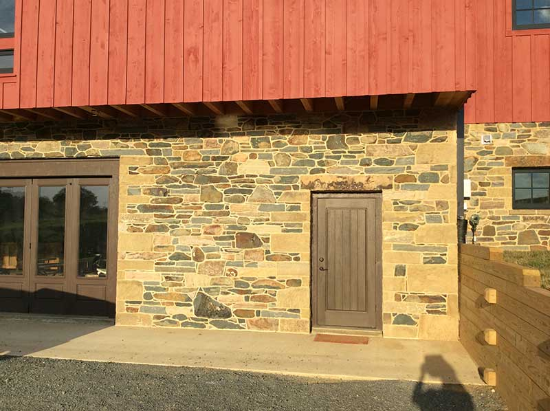 stonework on barn