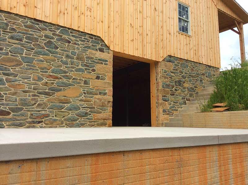 barn foundation stone