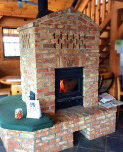 winery fireplace
