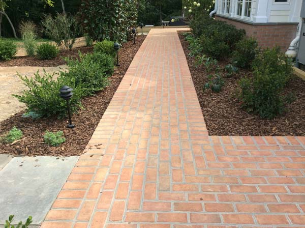 brick walk path around home