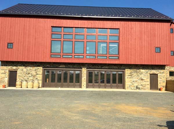 Winery stone foundation