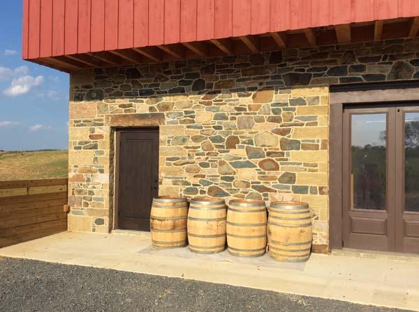 distilliary barn with stone