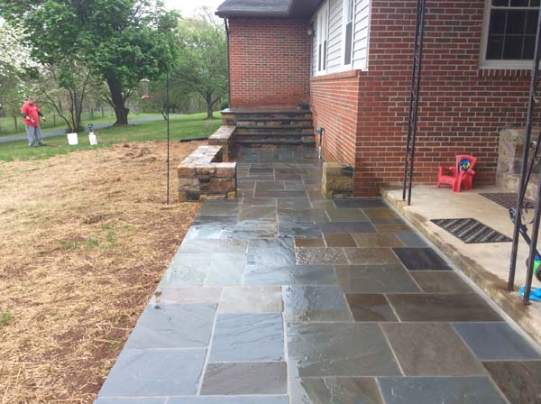 new stone walk Leesburg mason