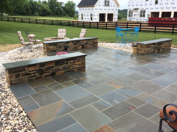 newly completed stone work