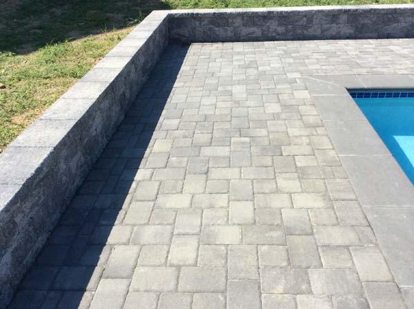 Perfect stone pool deck