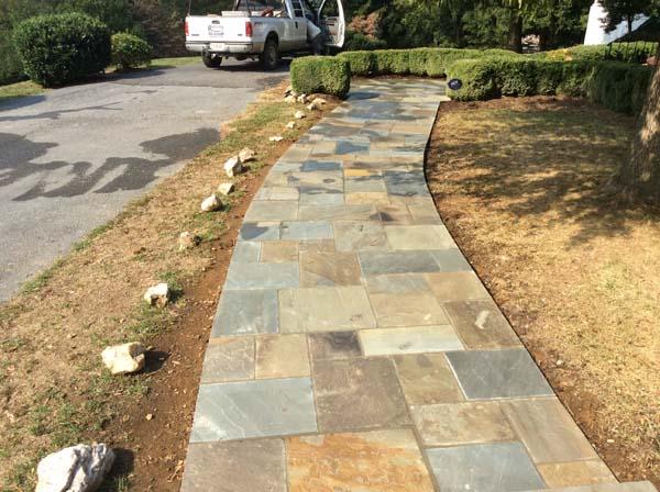 beautiful stone walk way