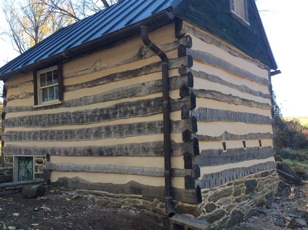 stone foundation rebuild