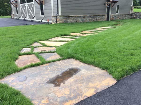 garage to home stone walk