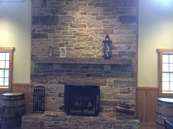 stone hearth living room